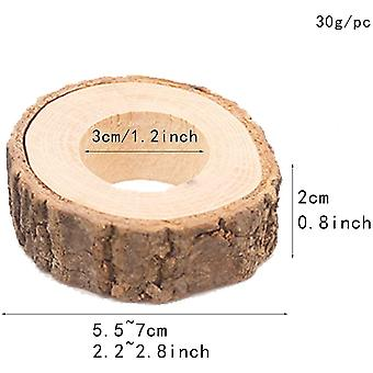 HanFei 10 Kreis Holz Serviette Ring DIY Basteln Kits Hochzeit Pary Tisch Ornament