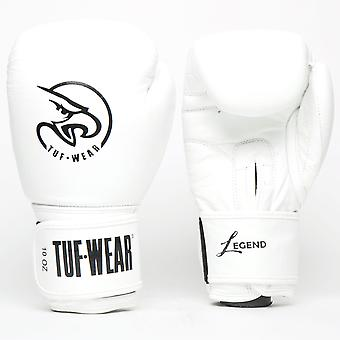 Tuf Wear Legend Leather Sparring Glove White