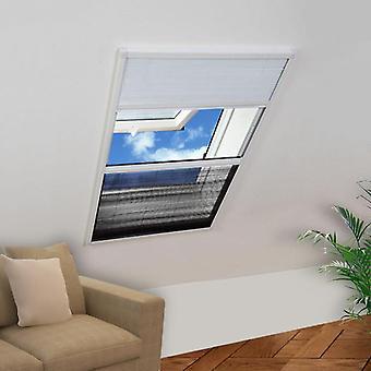 vidaXL Plisse طارد الحشرات نافذة مع الألومنيوم الأعمى 160×80 سم