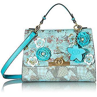 Laura Vita 4232, Shoulder strap, Bag with Handle. Woman, Turquoise, Medium(2)