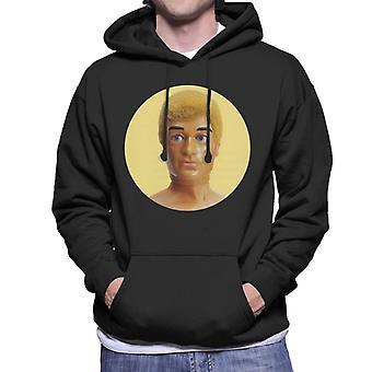 Action Man Blonde 70s Men's Hooded Sweatshirt