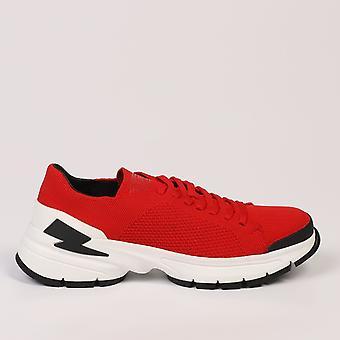 Red Sneakers Neil Barrett Men