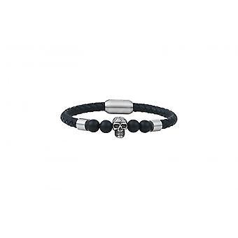 Bracelet Homme G-Force Bijoux BGFBR0008S-20 - Cuir Noir
