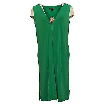 إيمان العالمية شيك المرأة & s سترة منتجع فاخر منفضة سترة الأخضر 685922