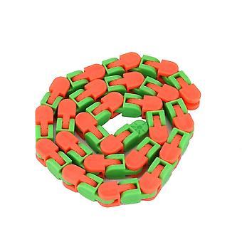 Värikäs palapeli aistinvaraiset raidat Snap Click Fidget Kids Stress Relief Pyörii