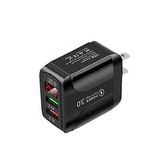 Wyświetlacz usb ładowarka szybka karta do ładowania eu / us plug for iPhone 11 samsung universal smart mobile phone fast chargers charging
