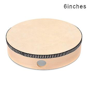 4/6/8/10 Inch wooden hand drum kid percussion toy wood frame drum for children music game convenient portable musical instrument