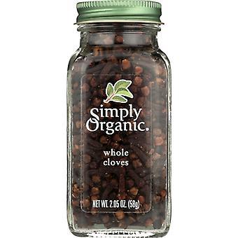 Simply Organic Ssnng Cloves Whl Bttl, Case of 6 X 2.05 Oz