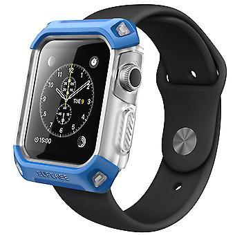 Apple Watch Case,SUPCASE Unicorn Beetle Series Premium Protective Bumper Case for Apple Watch 38 mm 2015-Frost/Blue