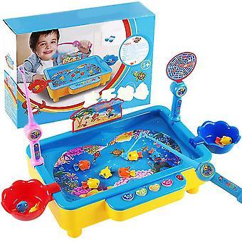 Μαγνητικό παιχνίδι αλιείας παιδιών με το μαγνητικό πλωτό ψάρι παιχνιδιών πόλων αλιείας (μπλε)