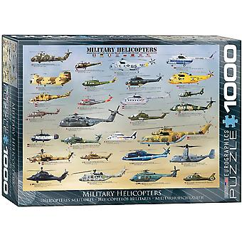 Eurographics Military Helicopters Jigsaw Puzzle (1000 Pieces)