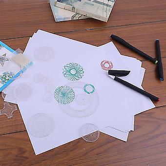 Spirograph Deluxe Set Design Tin Set Draw Spiral Designs Interligados Brinquedos