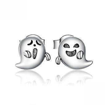 Ohr Stecker kleine Teufel Geist Halloween S925 Sterling Silber Ohrringe für Party