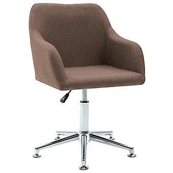 vidaXL Dining Chair Swivel Brown Fabric