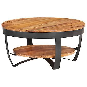 vidaXL sohvapöytä 65x65x32 cm massiivipuu akasia