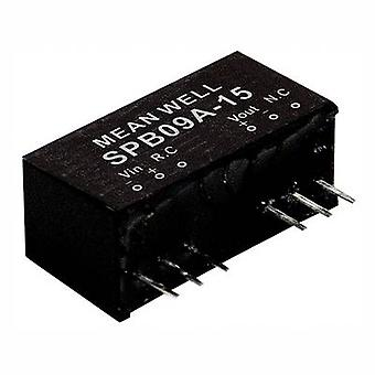 Mean Well SPB09C-03 DC/DC converter (module) 2000 mA 9 W No. of outputs: 1 x