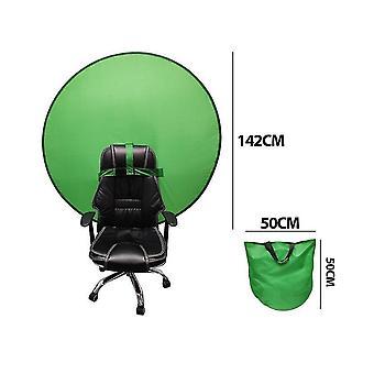 Pantalla verde Estudio Fondo portátil para chats de vídeo Zoom Telón de fondo