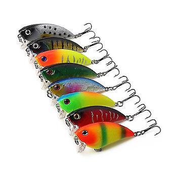 8pcs/set 5.5cm 6g VIB Minnow الصيد كرانكابيت الصيد إغراء الطعوم الصلبة الاصطناعية