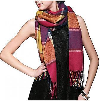 Winter Long Scarf Warm Wrap Wool Women's Spinning Fringed Shawl(ASF09)