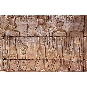 Tapeta Mural Starożytne egipskie dzieła sztuki w świątyni Edfu, Edfu, Egipt.