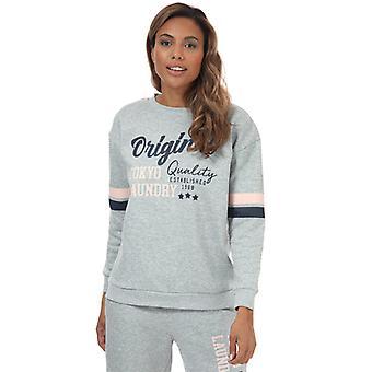 Women's Tokyo Laundry Biscuit Crew Sweatshirt in Grey