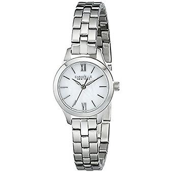 Caravelle New York Women's 43L177 Analog Display Analog Quartz White Watch