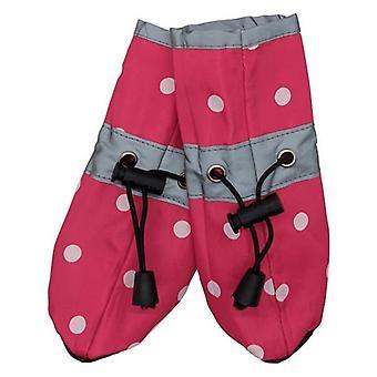 Fashion Pet Polka Dog Dog Rainboots Pink - Medium
