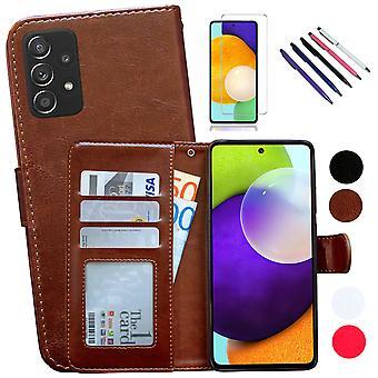Samsung Galaxy A52/a52 5g - Ledertasche / Abdeckung