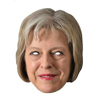 Theresa May Britse premier 2D Card Party Fancy Dress Mask