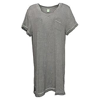 Honeydew Women's Ladies' Sleep Shirt Short Sleeve Heather Gray
