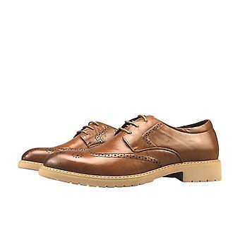 أحذية جلدية عارضة للرجال فستان أحذية ريترو