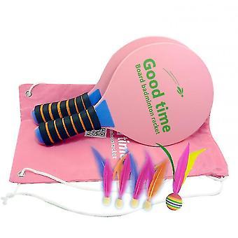 Badminton Indoor Sport racket set met racket Shuttlecock Cricket (roze)