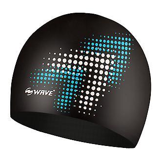 Digital Wave Swimming Cap