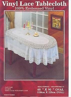 60in x 90in Lace Tablecloth Oval