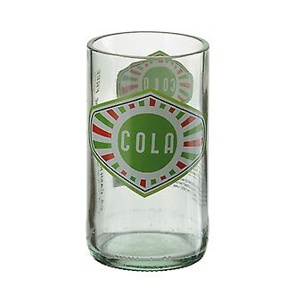 Artland Hi Ball Tumbler Retro Glass Cola Bottle Design Green