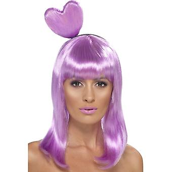 Srdce parochňa Candy kráľovná fialová srdce kráľovná parochňa dámy