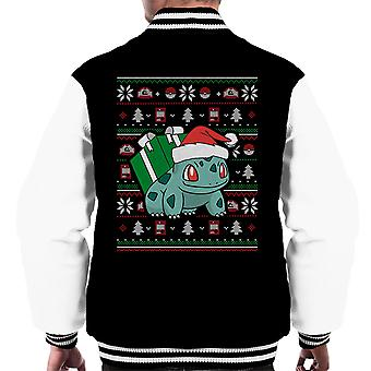 Christmas Bulbasaur Knit Pattern Pokemon Men's Varsity Jacket