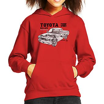 Haynes Workshop Manual Toyota Hi Lux Black Kid's Hooded Sweatshirt