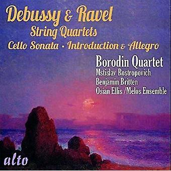Borodin Quartet, Melos Ensemble, Rostrop - Debussy; Ravel: String Quartets Introdu [CD] USA import