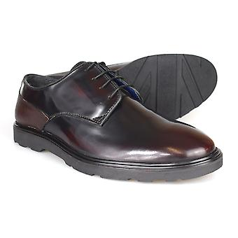 Silver Street London Ruskin Oxblood Patent Leather Mens chaussures