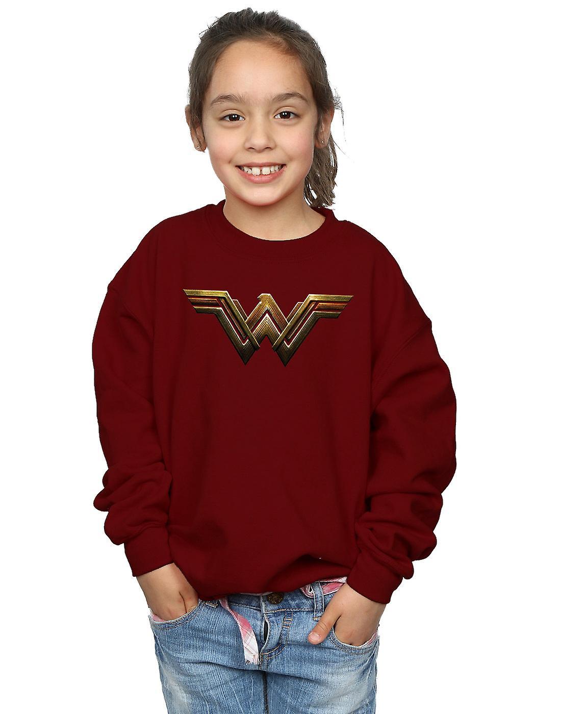DC Comics Girls Justice League Movie Wonder Woman Emblem Hoodie