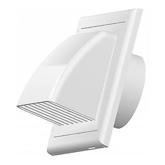 Vents Lüftungsgitter für Rückkehr Klappe ABS weißen Außenhülle 100/125/150 mm