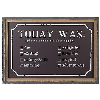 Today Was Chalkboard Wall Sign