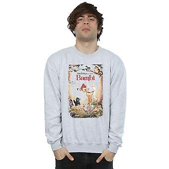 Disney Herren Bambi Retro Poster Sweatshirt