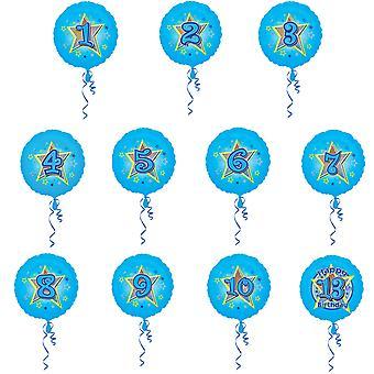 Amscan 18-дюймовый блеск звезды дизайн круговой фольги рождения возраст шар