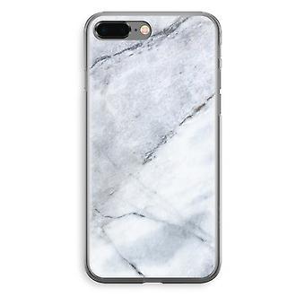 iPhone 8 Plus Transparant Fall (Soft) - Marmor weiß