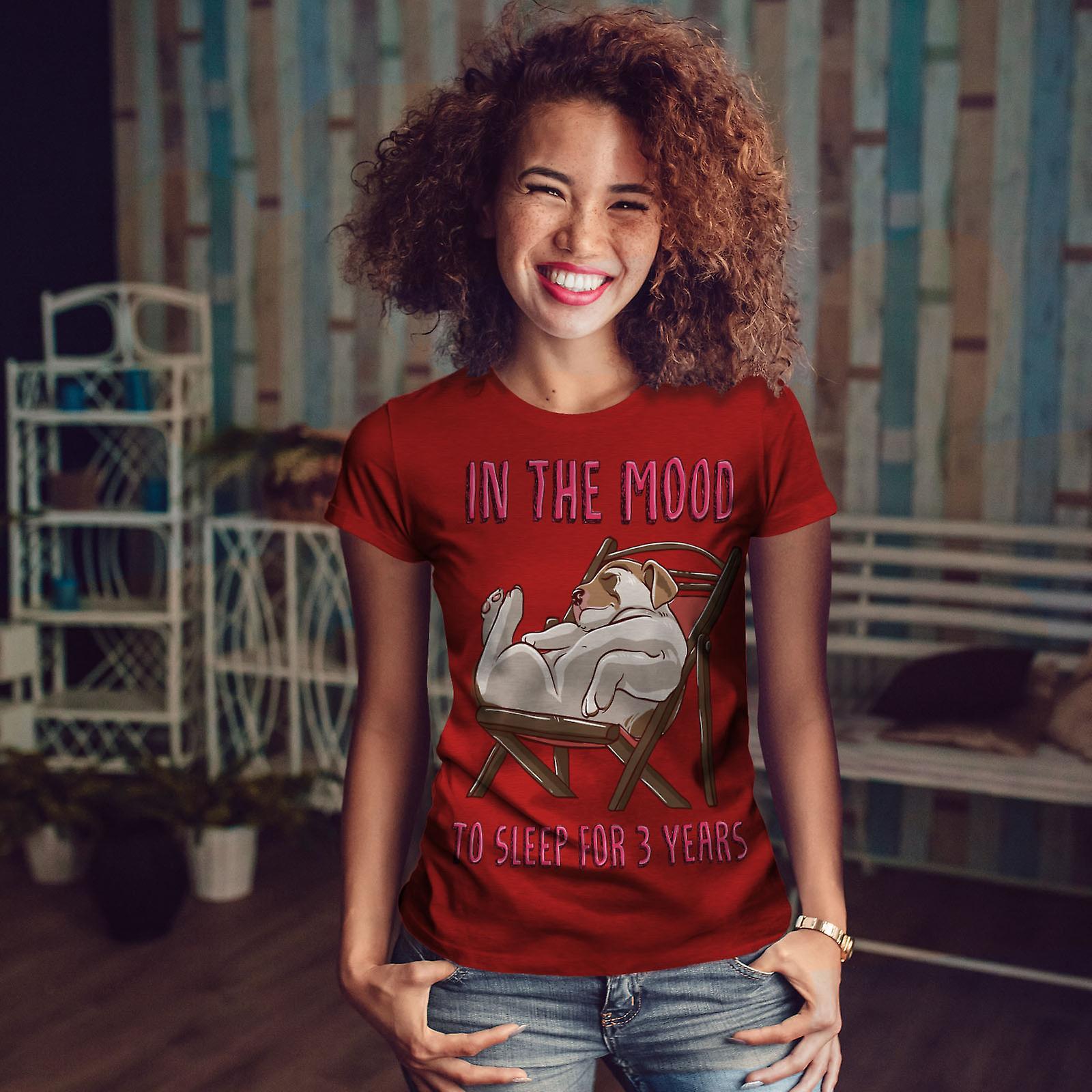 Drôle de couchage chiot humeur RedT-chemise femme | Wellcoda