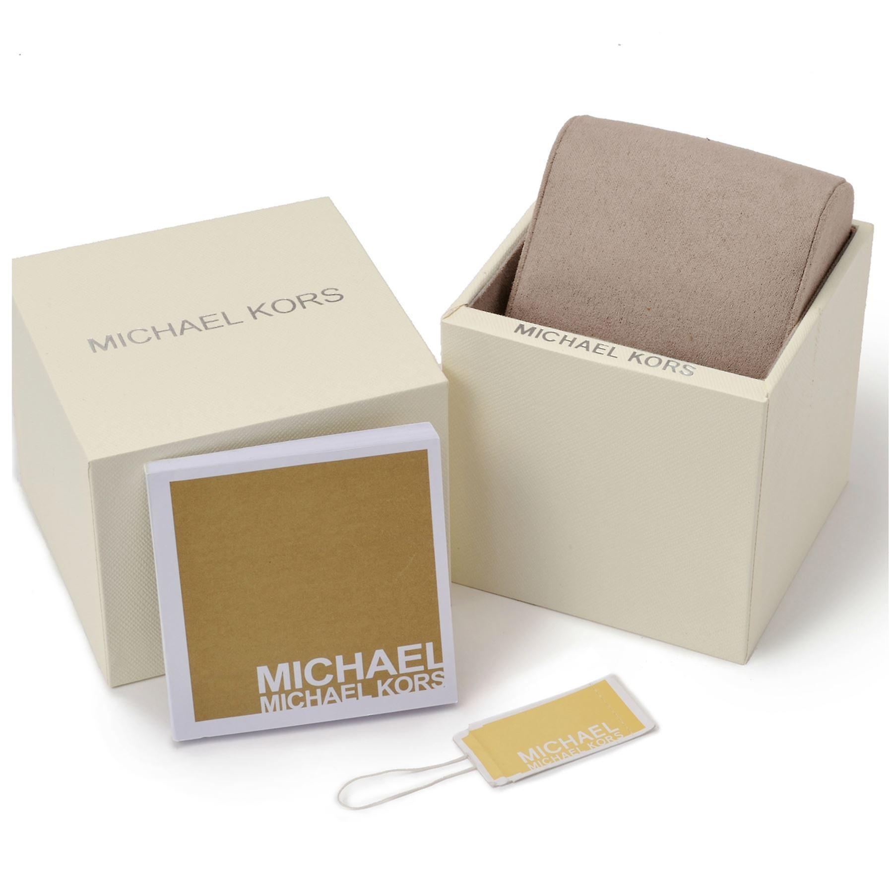 Michael Kors piste Slim Mens Watch cuir marron cadran Champagne MK2606