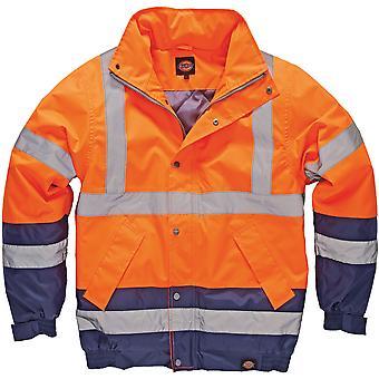 Dickies Herren High Visibility Viz Two Tone Pilot Jacke Orange SA7005