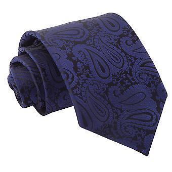 Klassische Krawatte Navy Blue Paisley